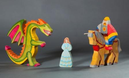 Рыцарь на коне, дракон, принцесса Image